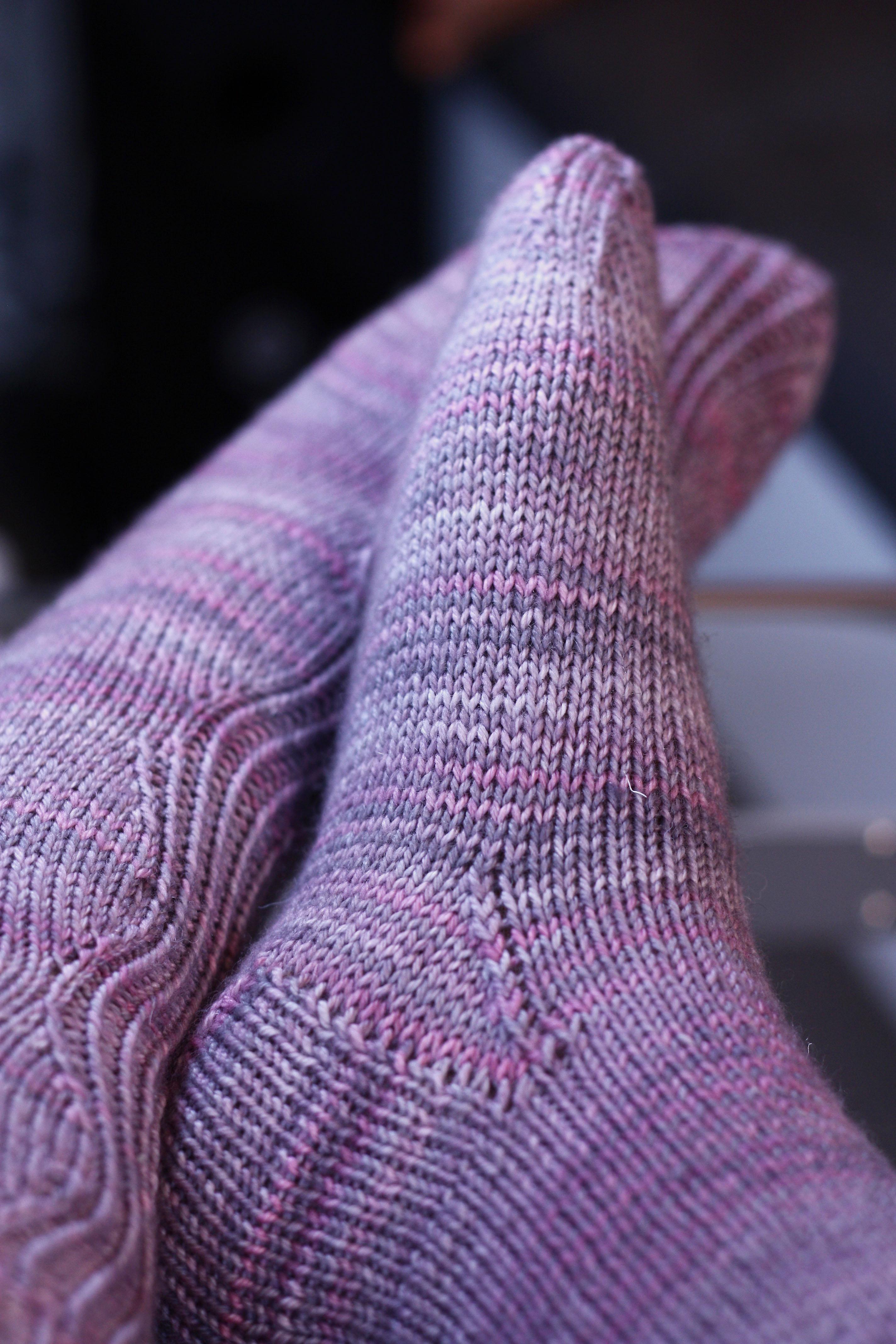 Mes premi res chaussettes en tricot la petite tailleuse - Cote 2 2 tricot ...