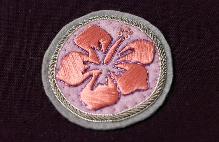 écusson hibiscus